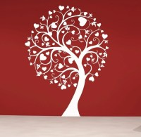 Swirly Heart Tree Vinyl Wall Decal Sticker