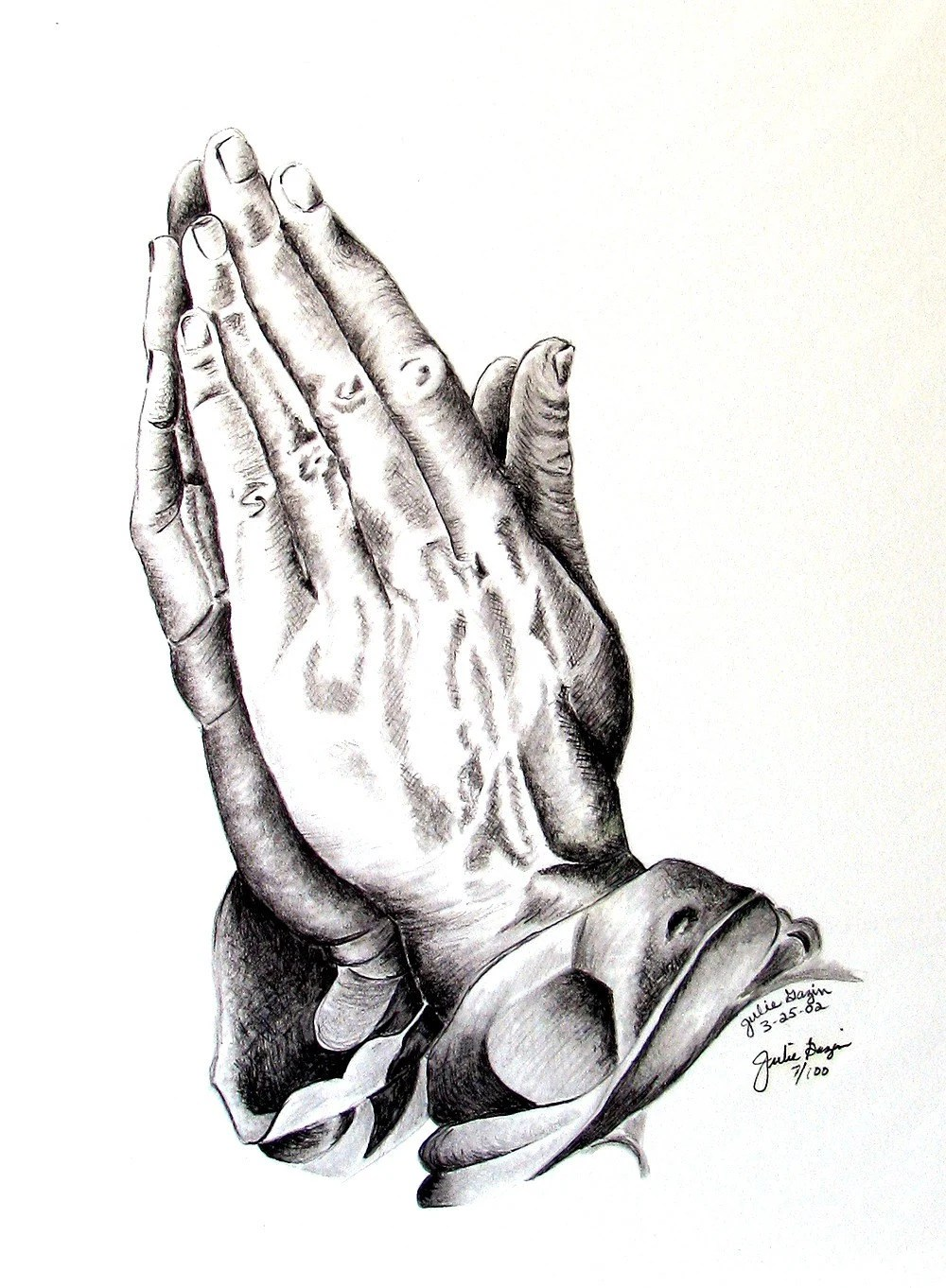Praying Hands Giclee Print Cancer Survivor