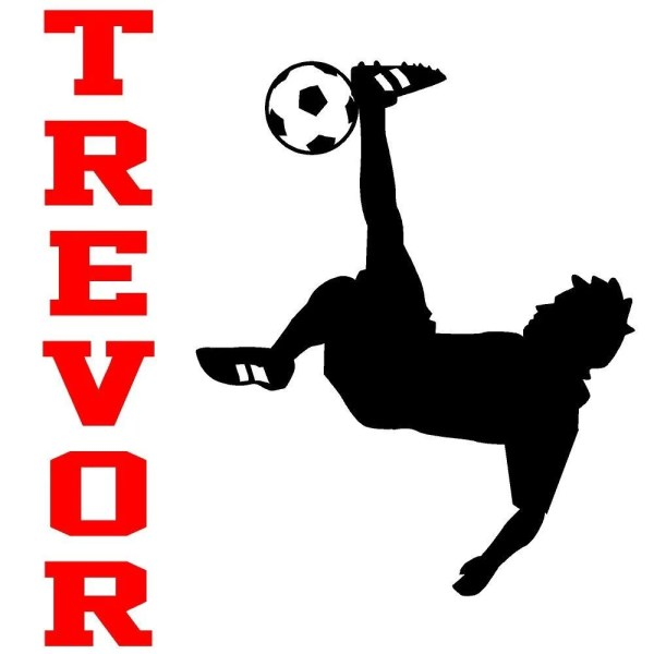 Wall Decal Personalized Soccer Player Children Sports