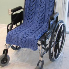 Wheelchair Blanket Teak Lounger Chairs Afghan Knit Special Needs Lap Hand Knitted By