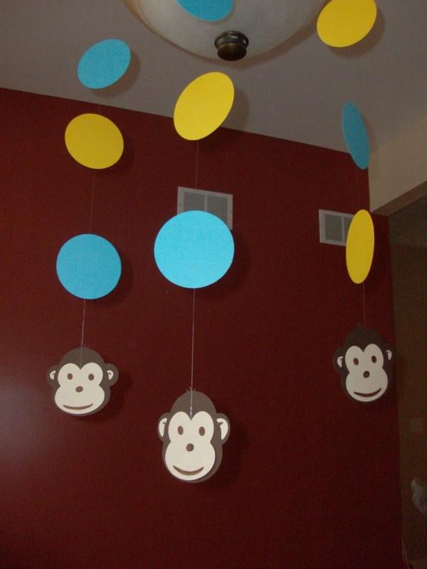 Mod Monkey Party Happy Birthday Baby Shower