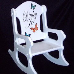 Personalized Rocking Chair For Toddlers Posture Seat Babies Kids Gift Toddler With Butterflies