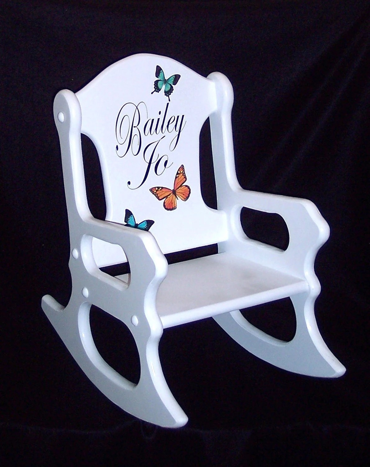 personalized little kid chair bedroom amazon uk kids gift toddler rocking with butterflies