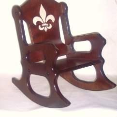 Wooden Childrens Rocking Chair Patio Canada Kids Fleur De Lis