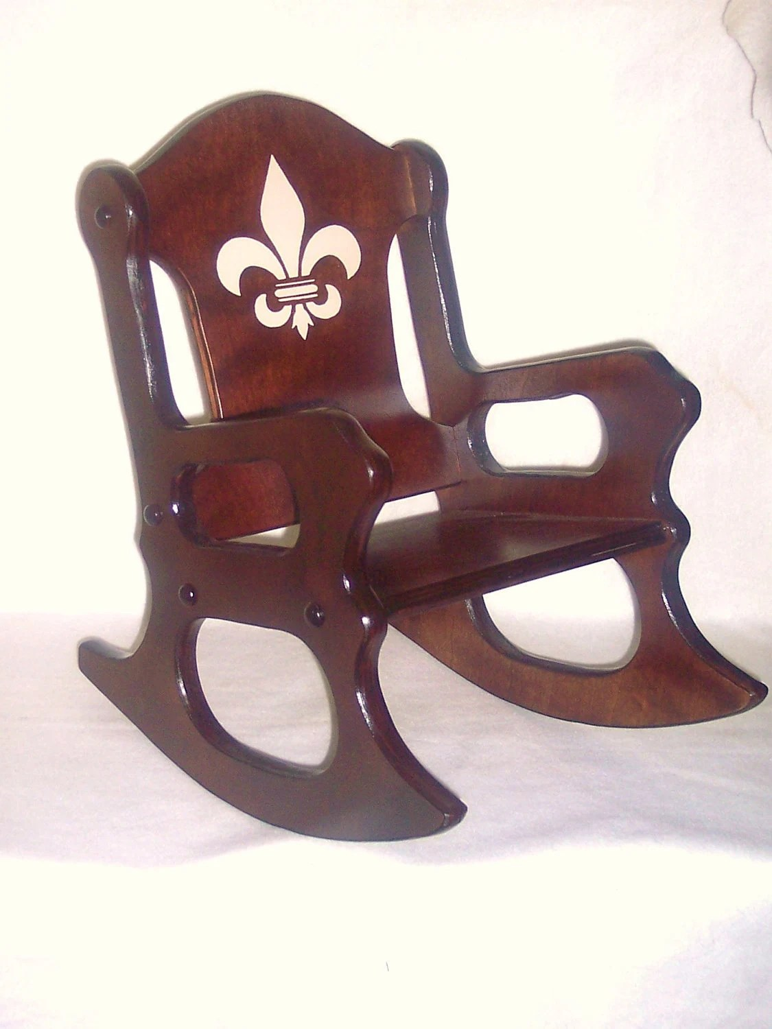 kids wooden rocking chair ergonomic chairs for back pain india fleur de lis