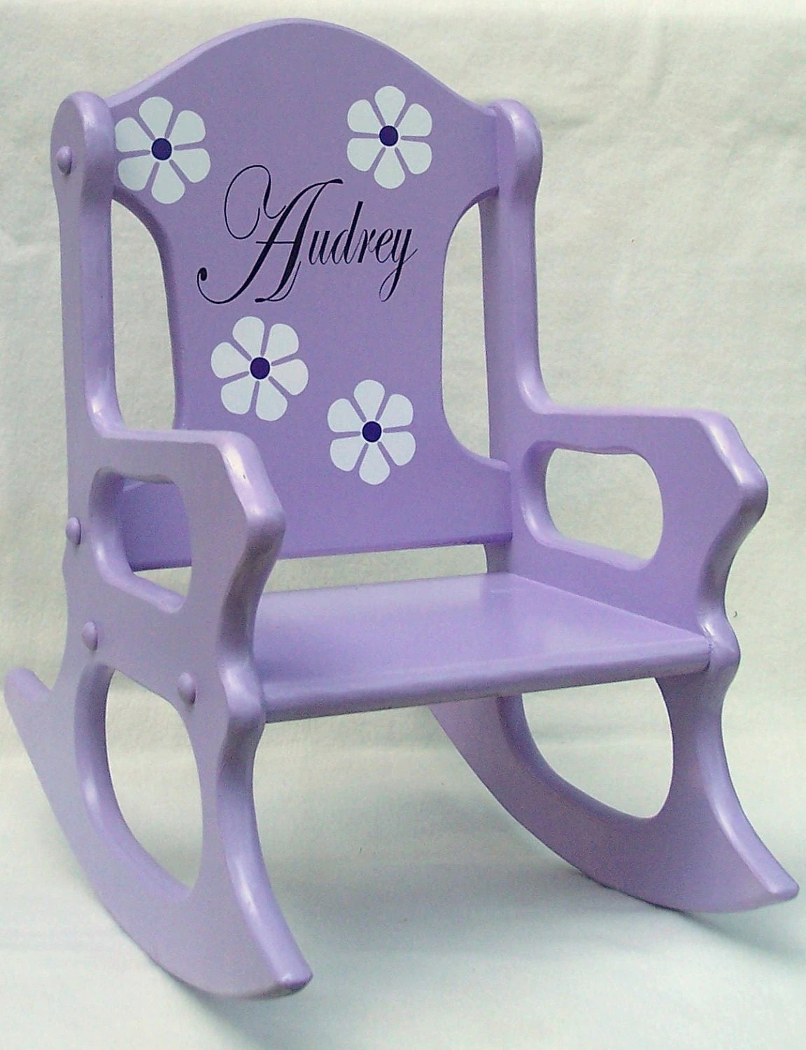 Personalized Chairs Child 39s Rocking Chair Purple Personalized