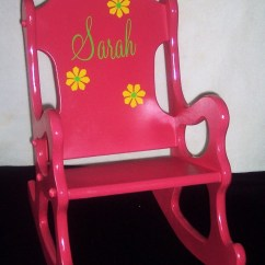 Pink Toddler Rocking Chair Set Of 6 Dining Chairs Children 39s