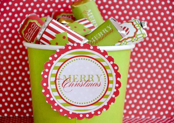 Traditional Christmas PRINTABLE Party Candy Bar Wrappers