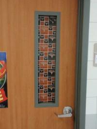 CLASSROOM DOOR WINDOW Curtain custom made for Teachers