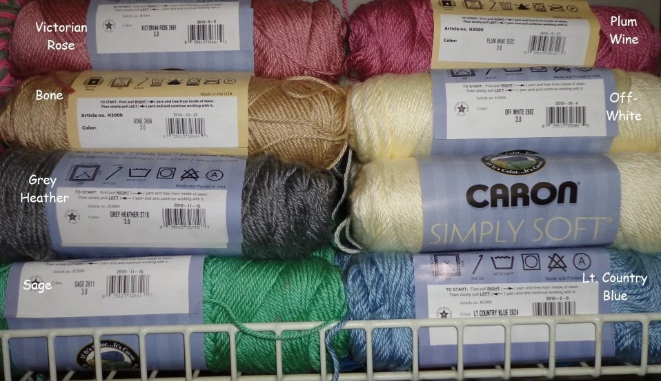 0003 Caron Yarn Soft Color Chart Simply