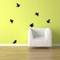 Birds Wall Decal 6 Birds flying. FREE Shipping Bird vinyl