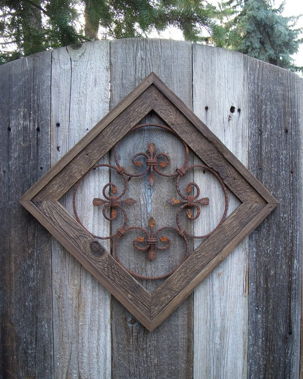 Country Chic Wall Decor Rustic Framed Steel