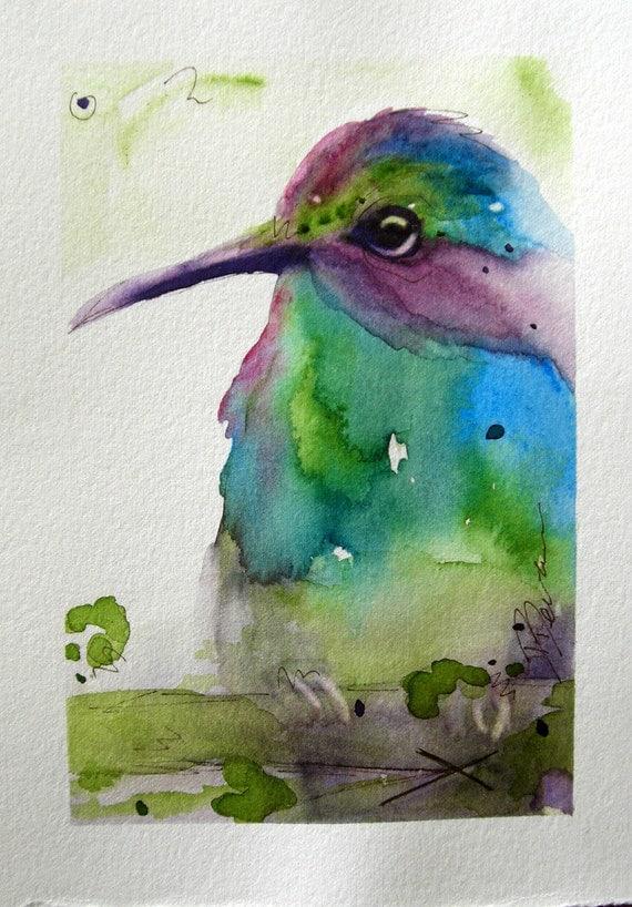 Birds Original Watercolor Paintings