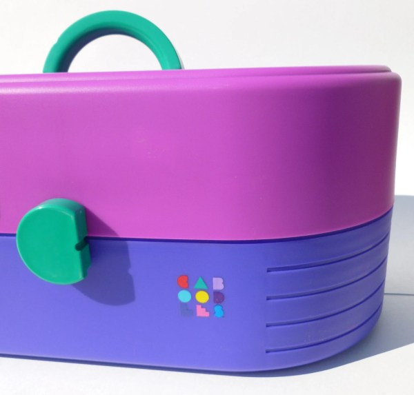 Caboodles Storage Case In Magenta Purple And Teal With Mirror