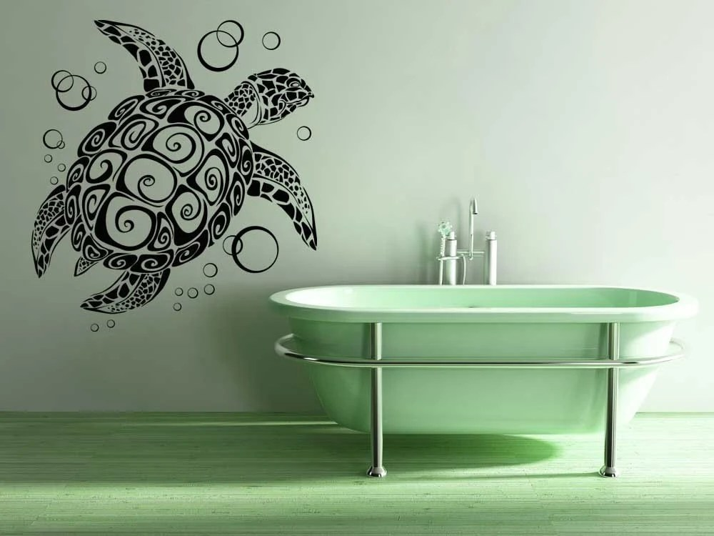 turtle tortoise bubbles sea turtle decal tribal turtle