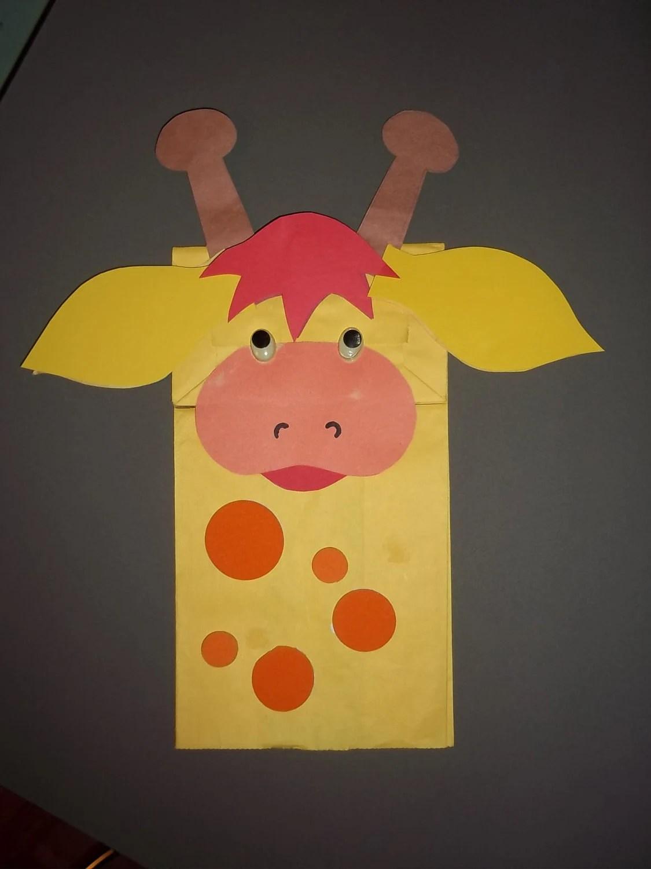 G Is For Giraffe Bag Puppet