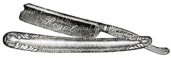 Wire Clip Straight Art Razor