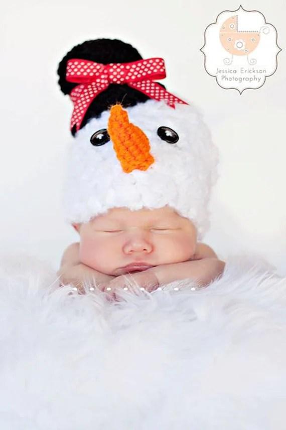 Items Similar To Baby Crochet Girl Boy Frosty The Snowman