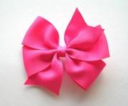 hot pink hair bow 4 large pinwheel