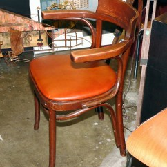 French Bentwood Cafe Chairs Sofa Chair Covers For Sale Pair Of Thonet With New Leather Seat