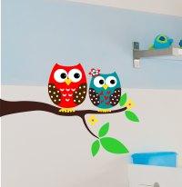 Owl Wall Decal - Children Wall Decals -Owl Wall Art ...