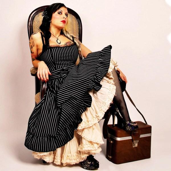 Steampunk Lolita Dress Pinstripe Cyanidekissx