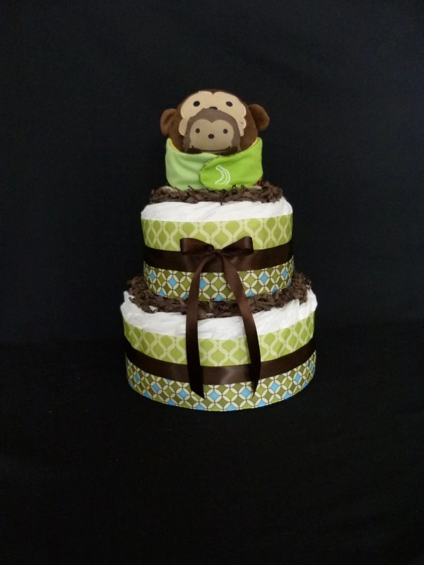 Monkey Baby Diaper Cake