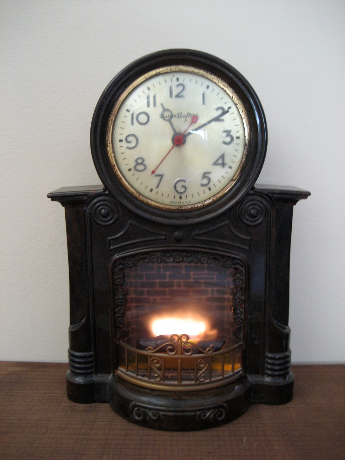 RESERVED Vintage Mastercrafters Animated Fireplace by