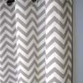 25 x 96 inch blackout lined grey zig zag by designerpillowshop