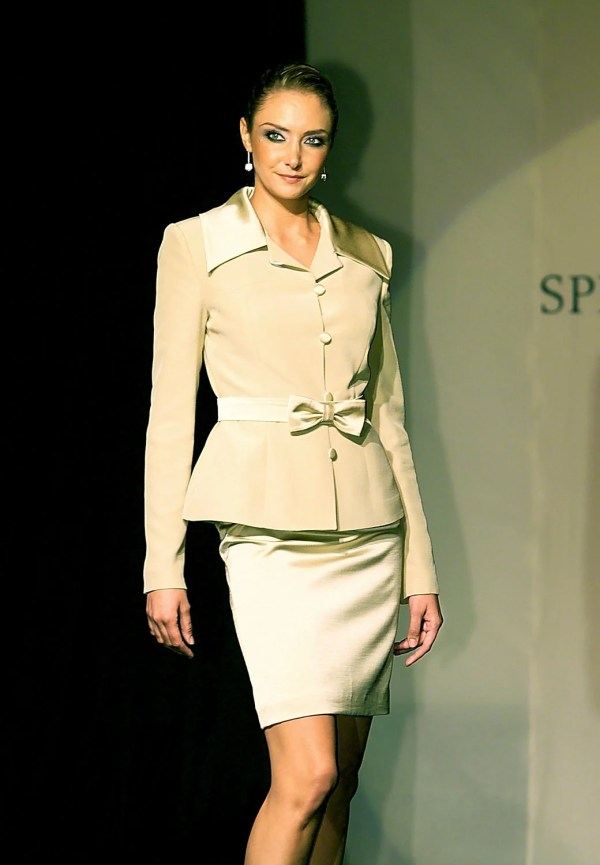 Pale Green Satin Georgette Skirt Suit