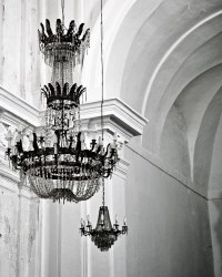 Chandelier Photography - Black and White Photography ...