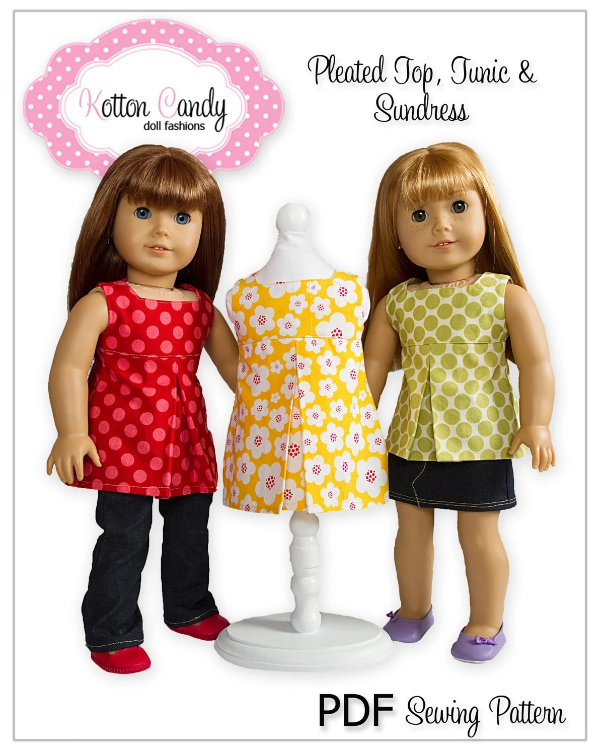American Girl Sewing Pattern Doll Clothes Epattern