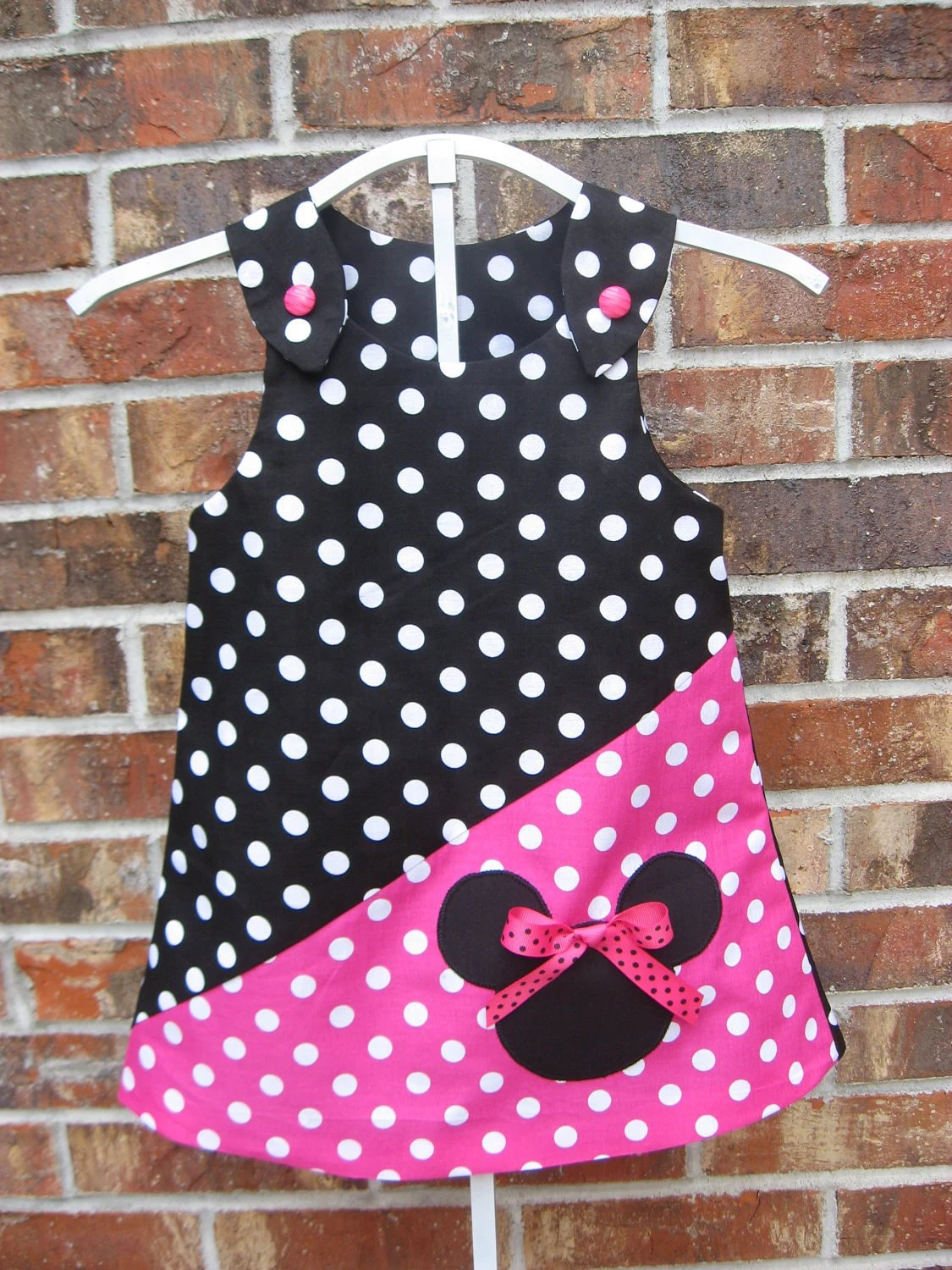 Items similar to Minnie Mouse Dress on Etsy