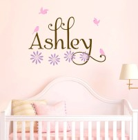 Items similar to Nursery Birdhouse Tree Wall Decal Flowers ...