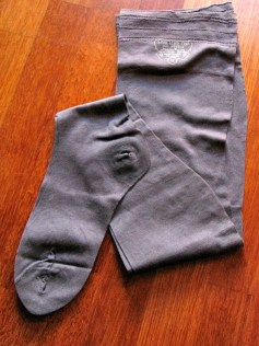 Vintage 1930s Seamless Cotton Stockings - Grey MINT