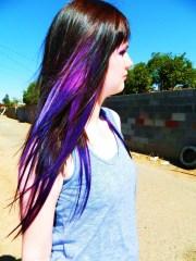 purple galaxy hair extensions