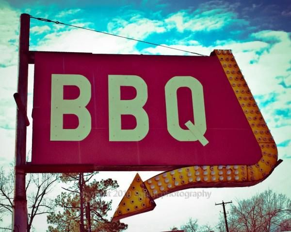 Fine Art Bbq Sign Restaurant Decor Retro