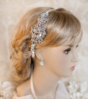 1920s bridal ribbon headband deco