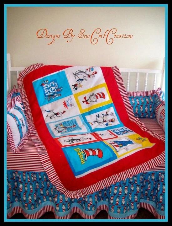 Dr Seuss Crib Bedding - sewcribcreations