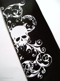 Men's necktie. black halloween skull tie by RokGear on Etsy