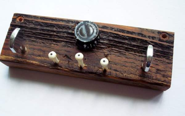 Guitar Parts Key Rack Wall Mounted Reclaimed Wood Holder