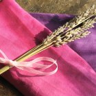 Organic Flax and Lavender Relaxation Eye Pillow - Pink and Purple Ombre