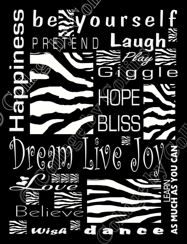Items Similar To Zebra Print Poster Decor Wall Art