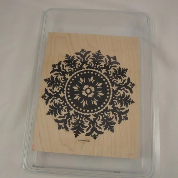 Medallion Stampin Up Retired Background Stamp