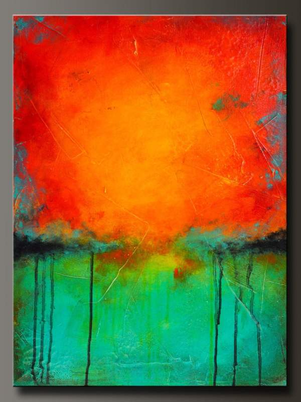 Rejuvenate 24 X 18 Abstract Acrylic Painting