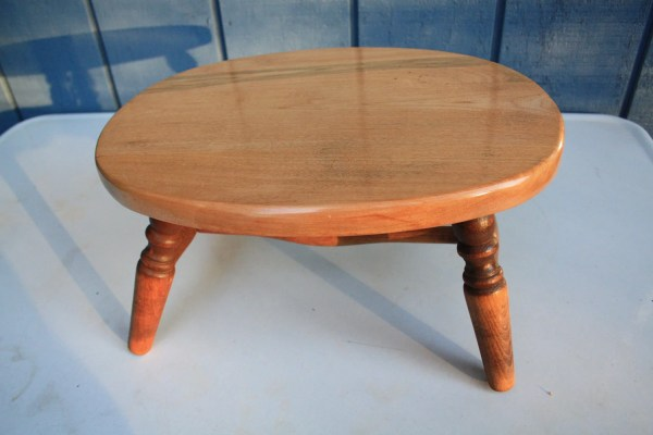 Vintage Cherry Wood Stool