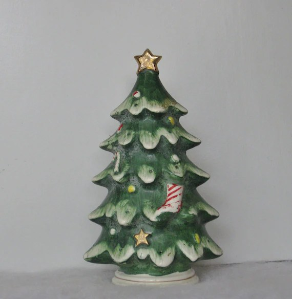Vintage Lefton Christmas Tree Ceramic Hors DOeuvres