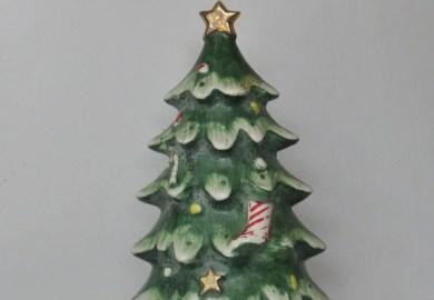 Ceramic Christmas Tree With Train