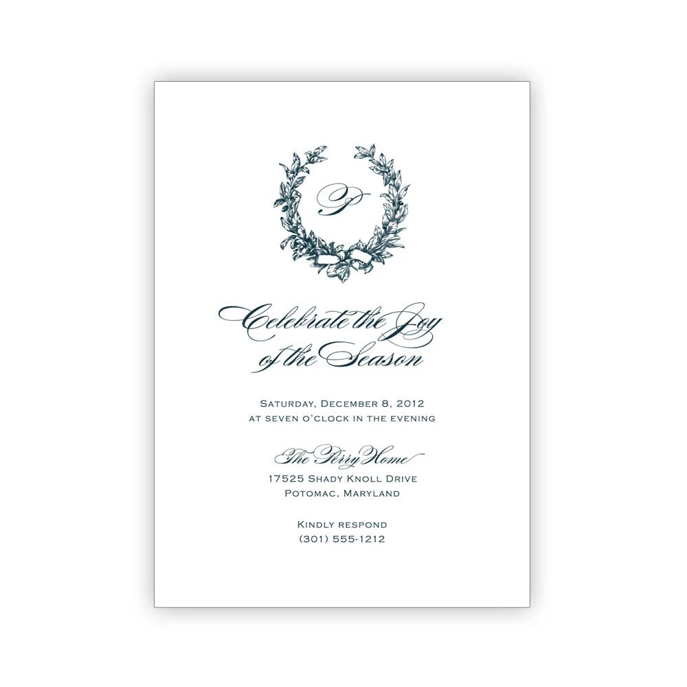 Printable Elegant Holiday Party Invitations by