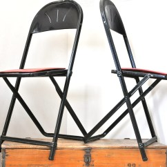 Folding Chair Menards Real Leather Chairs Dining Vintage Pair Metal Hampden Specialty Products